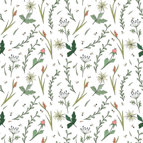 Alessandra Spada, fabric, pattern, wild flower