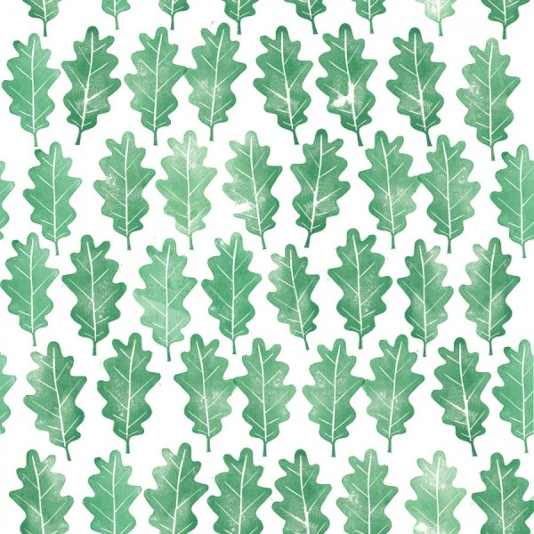 Alessandra Spada handprint oak leaves