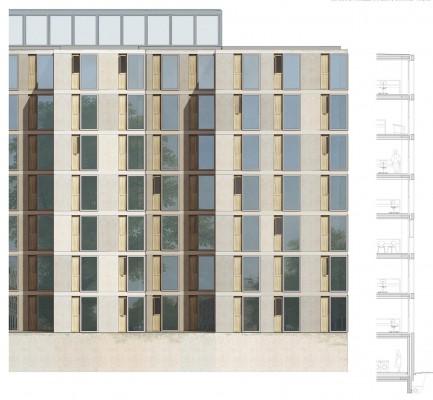 EX-M Architetti Prospetto Casa dello Studente
